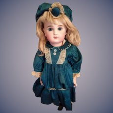 Gorgeous Emerald blue silk dress and Hat