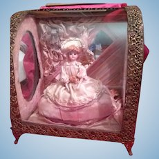 Rare French Display Case with Doll