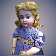 Gold and Blue Dress for French or German Doll
