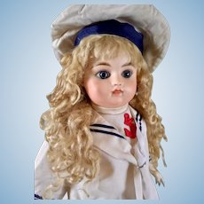 "19"" French bisque bebe by mystery maker, marked ""G"""