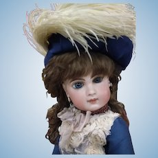 "Stunning Antique 16"" Jumeau EJ Doll Size 7"