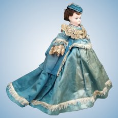 Petite German Fashion Doll with Couture Dress