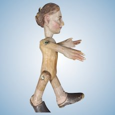 Early Rare Carved Chip Wood Caricature