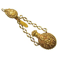 Exceptional Complete 18 Carat Gold Perfume Bottle Chatelaine, Regency