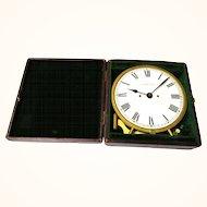Rare American Waltham Travel/Night Clock Watch in Original Case, c1885