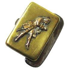 Fascinating Brass & Steel Pocket Tinder Box with Flint, Georgian