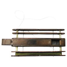 Antique Treen Fishing Line Holder with Central Storage, late 19th Century