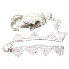 Long Length of Ecru Hand Crochet Edging, Vintage