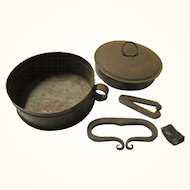 Steel Canister-style Tinderbox with Flint & Two Strikers, early 19th Century