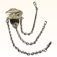 Interesting Art Nouveau Sterling Silver Chatelaine with Security Chain, c1902
