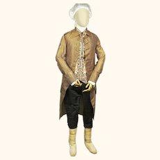 Spectacular Gentleman's Silk Topcoat, late 18th Century