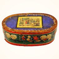 Pennsylvania German Bride's Box with delightful lithograph, 19th century