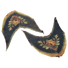 Fascinating Pair of Machine Tapestry Slipper or Shoe Tops, Edwardian