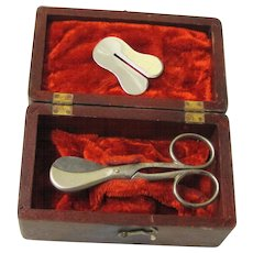 Rare Newborn Cord/Circumcision Set with Provenance, 19th Century