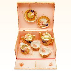 Charming Boxed Coffee Service For a Doll or a Child, early 20th Century