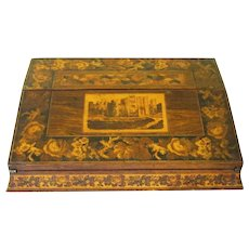 Desirable Tunbridge Portable Lap Desk, mid-19th century