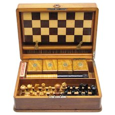 Quality Games Compendium for Chess, Checkers, Dominoes & Cards, Victorian