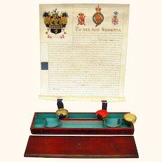 Extraordinary Named Document & Seal Box, c1827