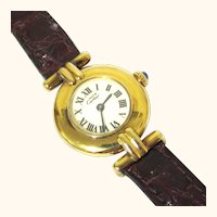 Elegant 'must de Cartier' Vermeil Lady's Watch, Vintage