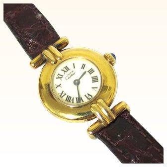 Elegant 'must de Cartier' Vermeil Lady's Watch, Vintage