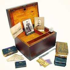 Remarkable US Navy Ditty Box with Fascinating Contents, late 19th–early 20th Century