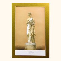 Beautiful Chromolithograph of the Famous Pandora based on an Alabaster Statue by J. Gibson R.A., Victorian