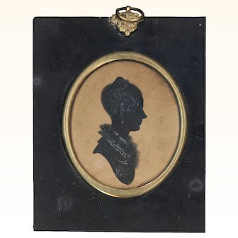 Lovely Framed Silhouette with Provenance, Early 19th Century