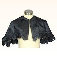 Elegant Civil-War Era Black Silk Pelerine