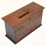 Interesting Ballot Box, possibly Masonic, Vintage