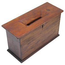 Interesting Ballot Box, possibly Masonic, Vintage
