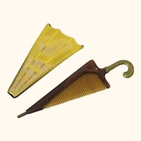 Fun Comb & Holder in Parasol/Umbrella-form, Vintage