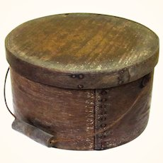 Classic Sturdy Bail-Handled Pantry Box, Americana, 19th Century