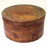Brown Sugar Bentwood Pantry Box, Americana, 19th Century