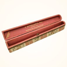 Attractive Small Duvelleroy Brocade Fan Box, late 19th Century