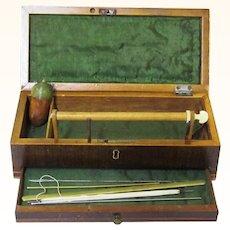 Elegant Georgian Fitted Mahogany Netting Box with Acorn Pin Poppet