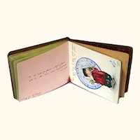 Charming Early 20th Century Large Autograph Book with Colourful Images