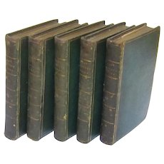"""""""The Works of the Right Honourable Lady Mary Wortley Montagu"""" in Five Volumes, Published 1803"""