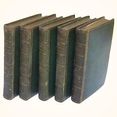 """The Works of the Right Honourable Lady Mary Wortley Montagu"" in Five Volumes, Published 1803"