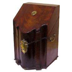 Special Original Mahogany Knife Box, late 18th Century
