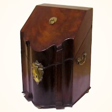 Special Original Mahogany Knife Box, late 18th Century