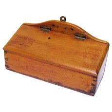 Attractive Treen Wall Candle Box, 19th Century