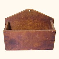 Naïve Treen Wall Box, Folk Art, 19th Century