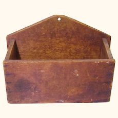 Naïve Treen Wall Box, Folk Art, 19th Century