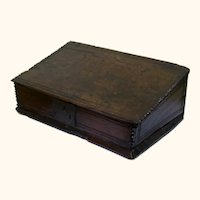 Special 17th Century Oak Writing Box, Dot-Dated 1668 Plus Owner's Initials