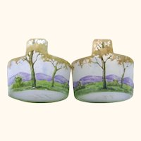 Quality Pair of Daum Nancy Salt Cellars, Late 19th- Early 20th Century