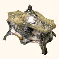 Art Nouveau Pewter Jewelry Box, WMF, c1900
