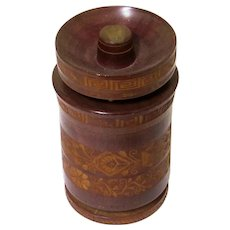 Decorative Treen Combined Cigarette Holder and Ashtray, Victorian