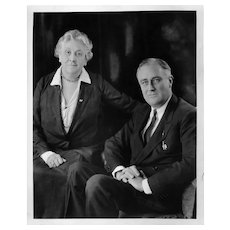Black & White News Wire Photograph of Franklin D. Roosevelt with his Mother, c1930