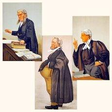 Three Vanity Fair Caricatures of Legal Gentlemen, 1889-1903