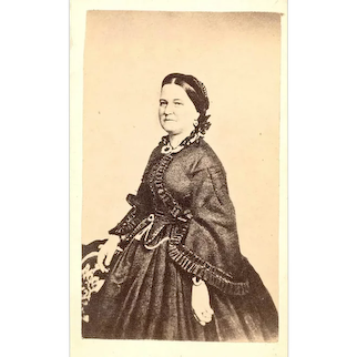 Carte de Visite Reproduction of Mary Todd Lincoln, wife of Abraham Lincoln, c1865